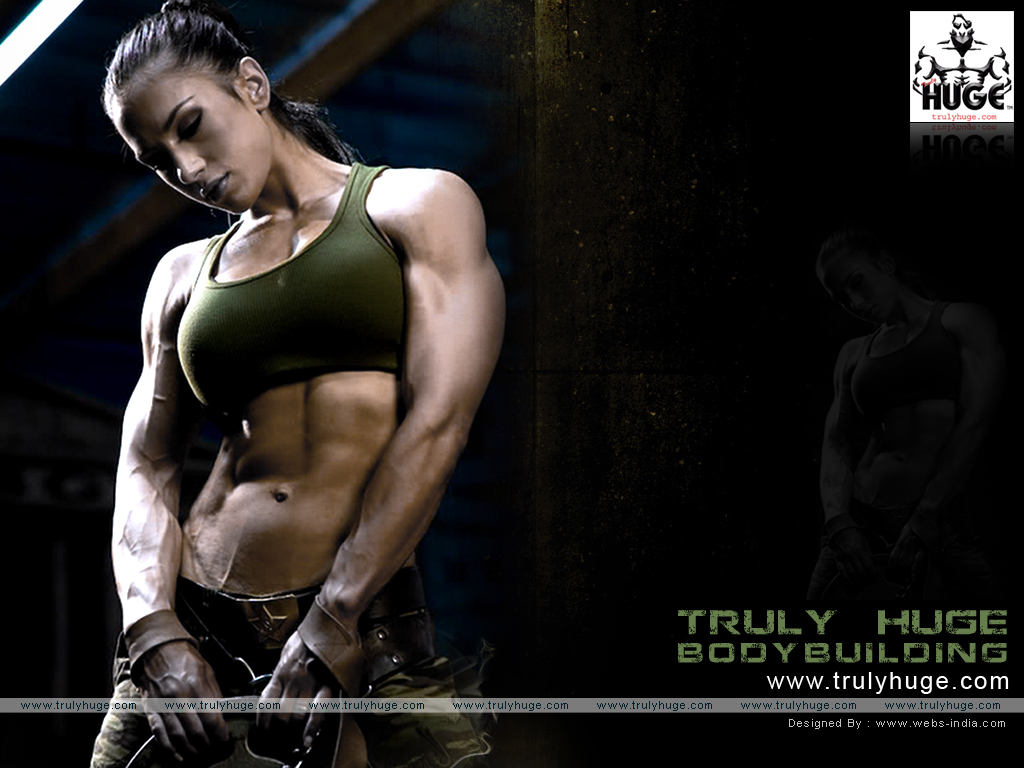 female bodybuilder wallpaper